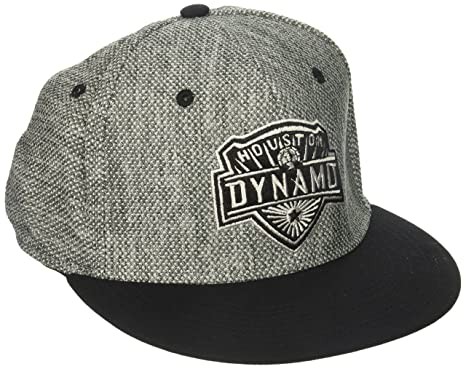 7f7e765fd8f adidas MLS Houston Dynamo Men s Heathered Gray Fabric Flat Visor Flex Hat