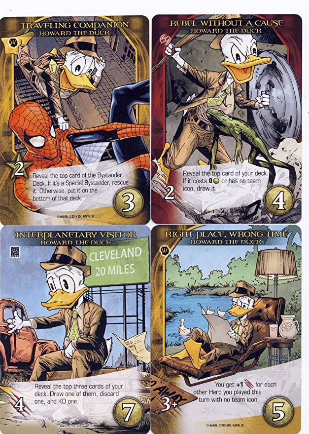 2015 UD 3D MARVEL HOWARD THE DUCK 14 CARD PLAYSET NEW