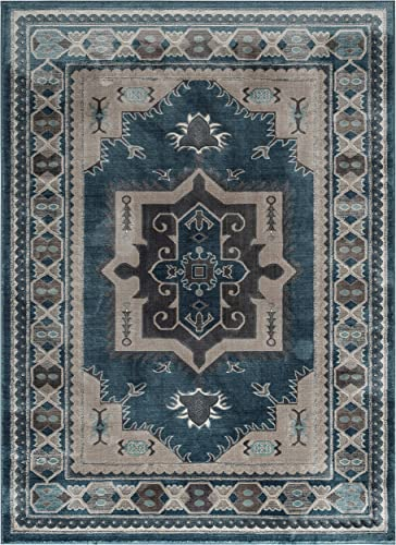 Well Woven Menage Geometric Dark Grey Modern Triangle Tiles Shapes Lines Area Rug 8×11 7 10 x 9 10 Carpet