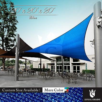 Amazon Com Royal Shade 20 X 20 X 20 Blue Triangle Sun Shade