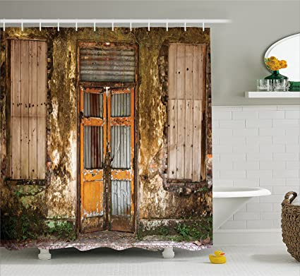 Amazon Ambesonne Rustic Home Decor Shower Curtain Damaged