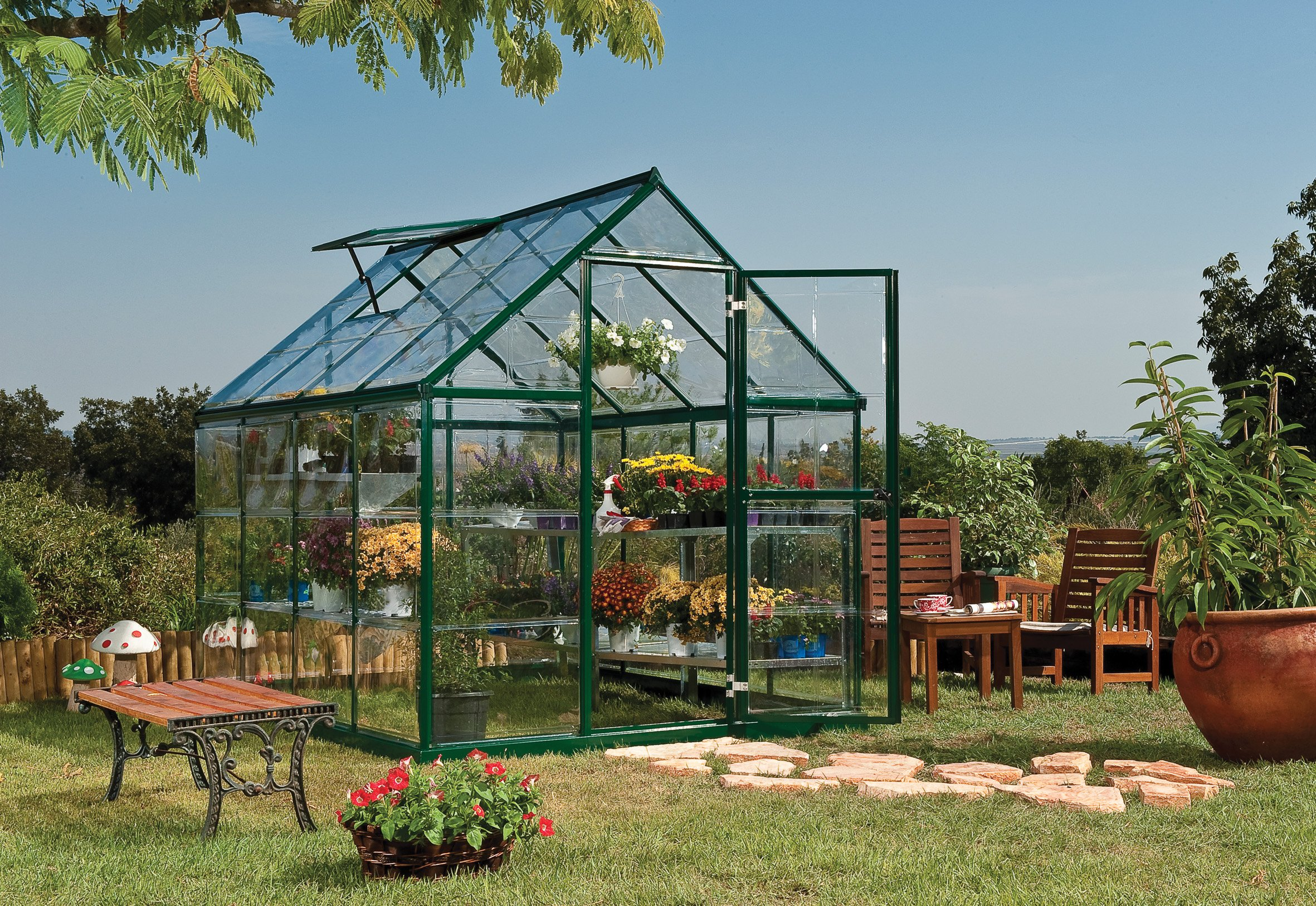 Palram Nature Harmony Greenhouse, 6' wide x 8' long by Palram