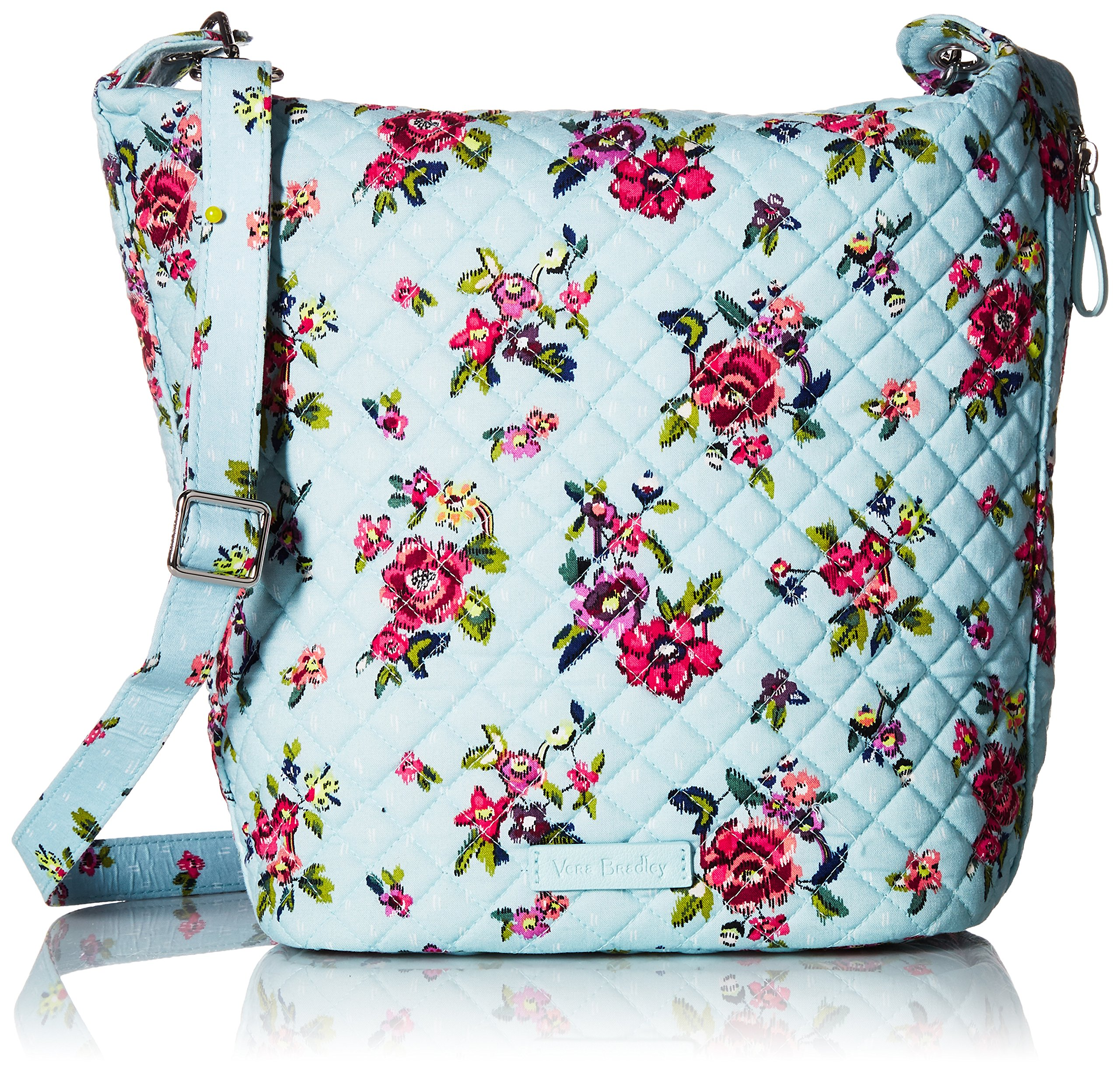 Vera Bradley Carson Hobo Bag, Signature Cotton, Water Bouquet
