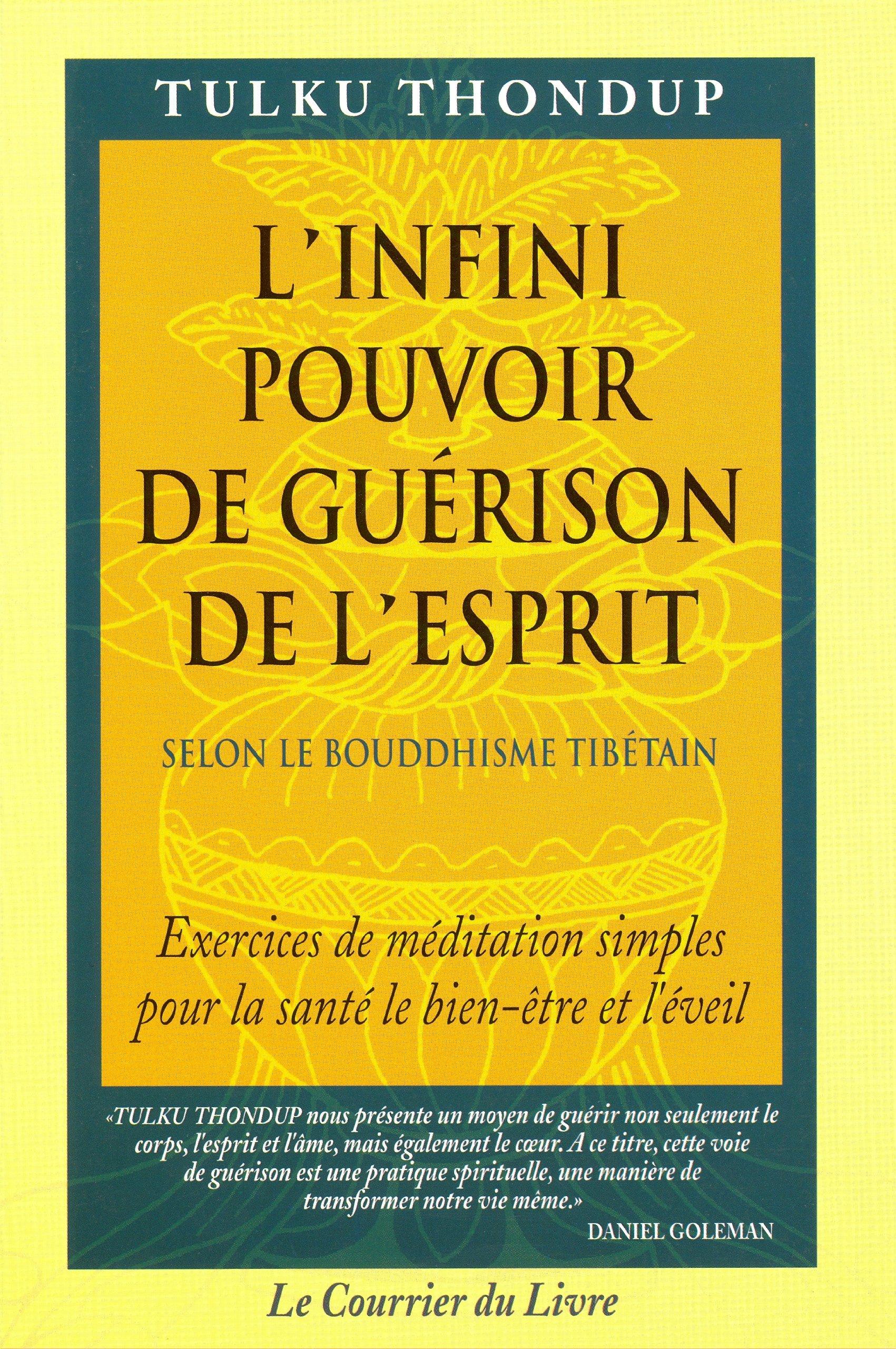 Amazon.fr - L'Infini pouvoir de guérison de l'esprit selon le bouddhisme  tibétain - Tulku Thondup - Livres