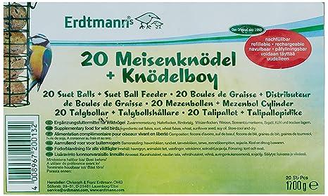 Erdtmanns Boule de Graisse sans Filets Distributeur pour Oiseaux 20 Pièces 4e8327449dee