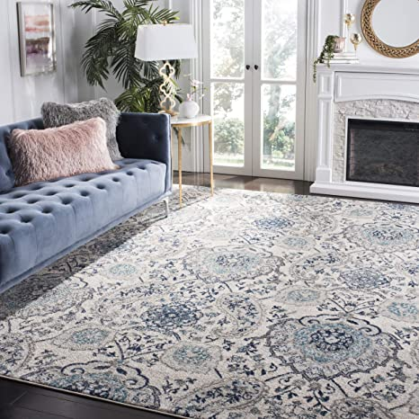 a4767811bd3 Amazon.com  Safavieh Madison Collection MAD600C Cream and Light Grey Bohemian  Chic Paisley Area Rug (3  x 5 )  Kitchen   Dining