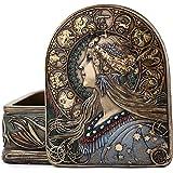 Top Collection Iconic Art Nouveau Jewelry Box - Collectible Antique Replica in Premium Cold Cast Bronze - 2-Inch Decorative L