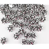 """Mini Metallic Confetti Bows, 1"""" Gift Wrap Bows for Christmas, Holidays and Birthdays by Emerald Craft & Hobby (100, Silver)"""
