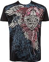 Sakkas Angel Five Metallic Embossed Mens Fashion T-Shirt