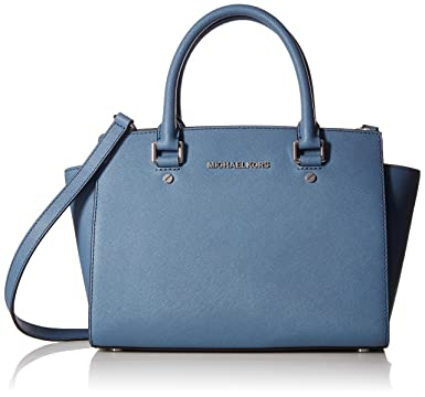71f678ec4c80 Image Unavailable. Image not available for. Color  MICHAEL MICHAEL KORS  Selma Medium Saffiano Leather Satchel ...