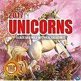 2017 Unicorns Calendar - 12 x 12 Wall Calendar - 210 Free Reminder Stickers