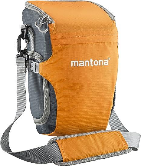 Mantona Elements Pro Colt Bolsa de Hombro para c/ámara/ /Gris//Naranja