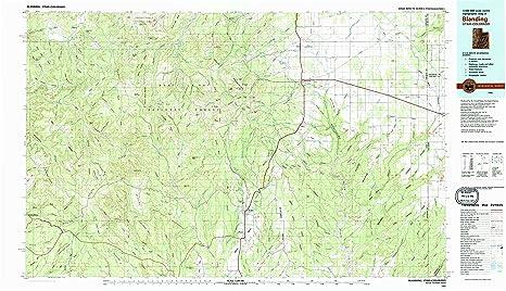 Amazon Com Yellowmaps Blanding Ut Topo Map 1 100000 Scale 30 X