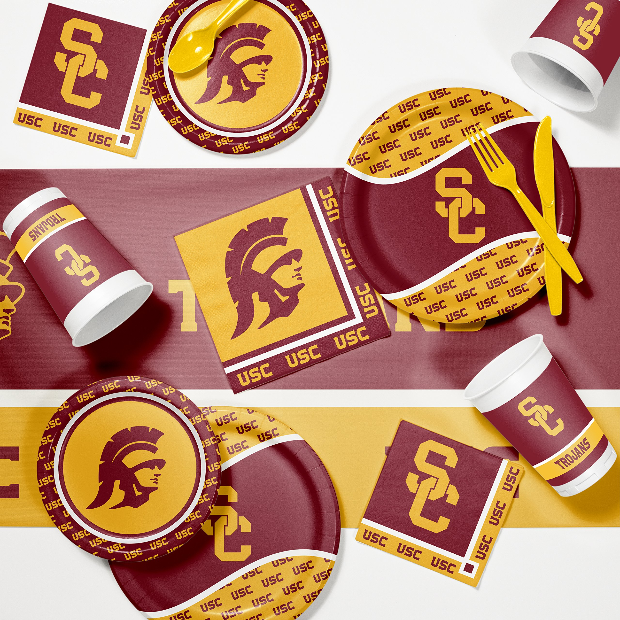NCAA University Southern California Game Day Party Supplies Kit by NCAA (Image #1)