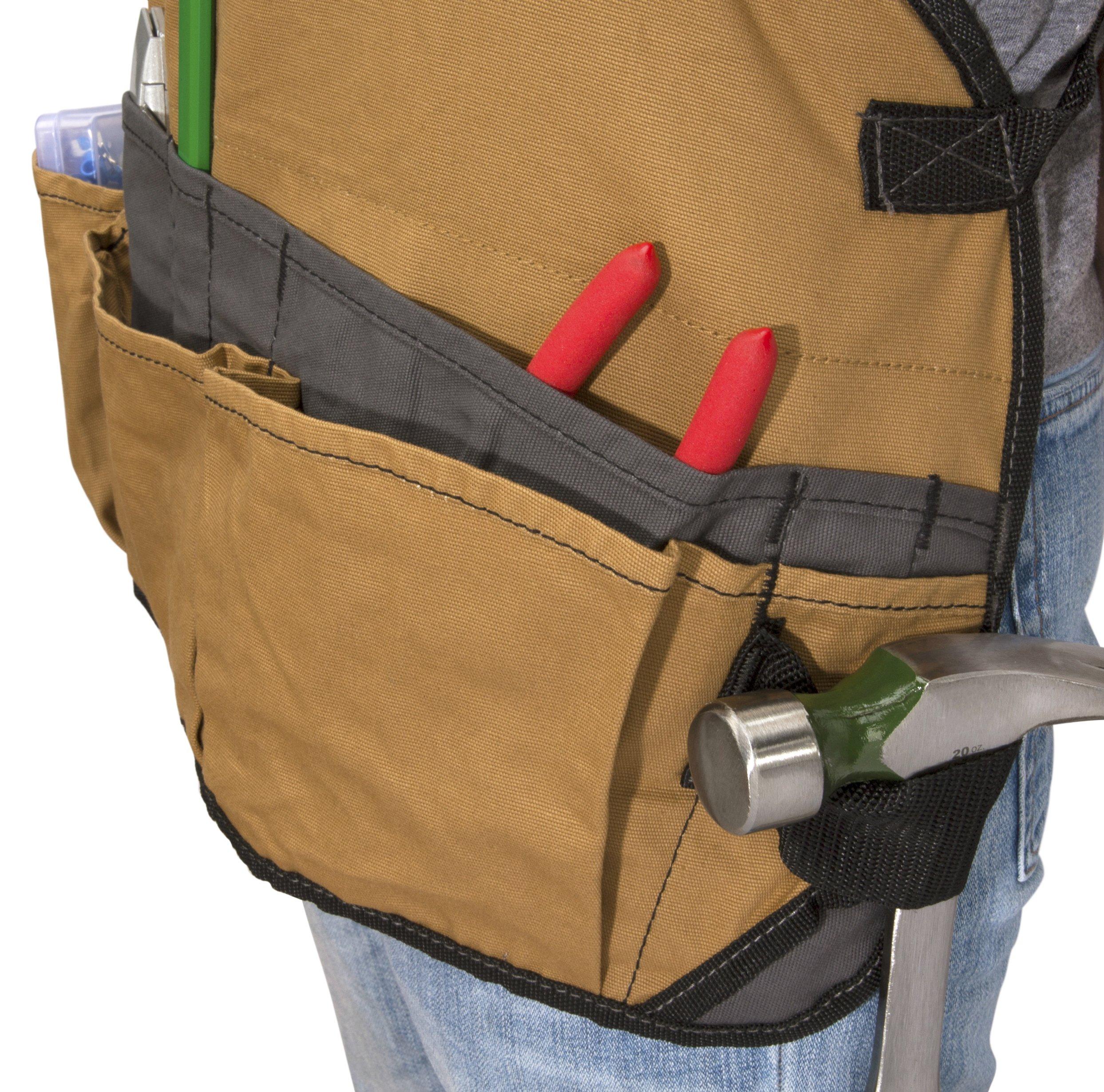 Dickies Work Gear 57027 Grey/Tan 16-Pocket Bib Apron by Dickies Work Gear (Image #2)