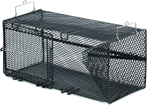 Frabill Rectangular Bait Trap   Heavy-Duty Vinyl-Dipped Steel Mesh Trap   Available in Models Specific to Crawfish or Minnows
