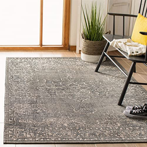 Safavieh Palazzo Collection PAL124-78124 Light Grey and Anthracite Area Rug 8' x 11'