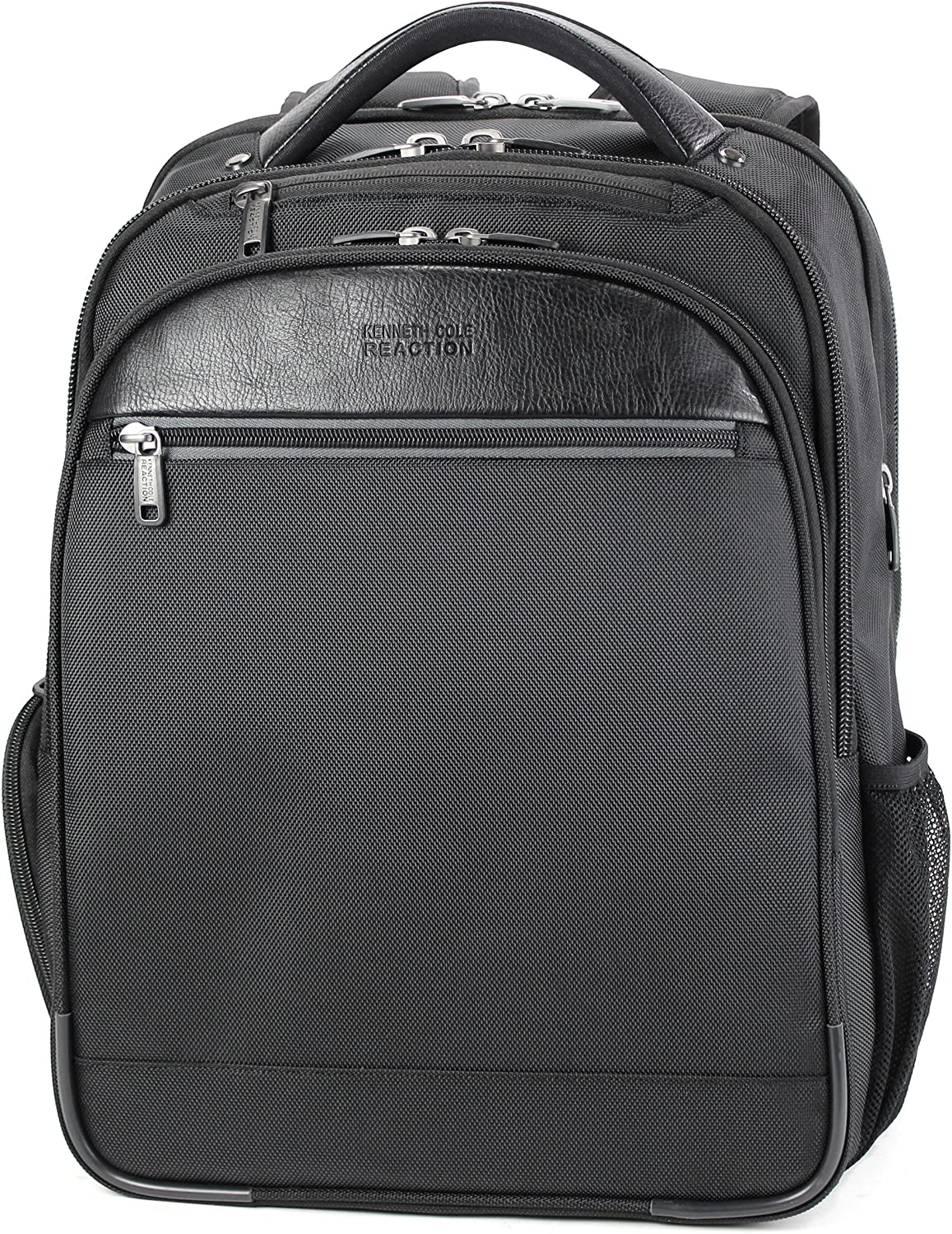 "Kenneth Cole Reaction ProTec Slim TSA Checkpoint-Friendly Expandable 15.6"" Laptop & Tablet Business Backpack, Black, Laptop"