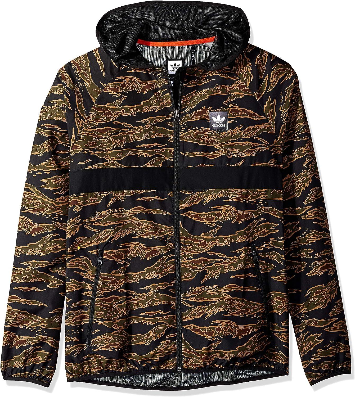 adidas Originals Men's Skateboarding Camo All Over Print Packable Wind Jacket