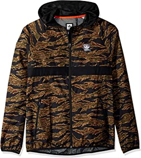 39ca22e4d076 adidas Originals Men s Skateboarding Camo All Over Print Packable Wind  Jacket