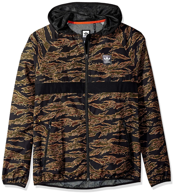 adidas Originals Men's Skateboarding Camo All Over Print Packable Wind Jacket,