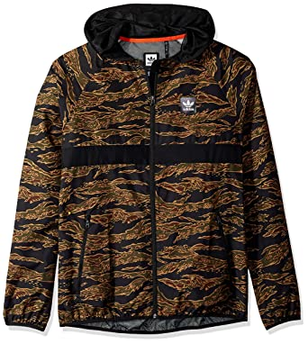 adidas Originals Men's Skateboarding Camo All Over Print Packable Wind Jacket