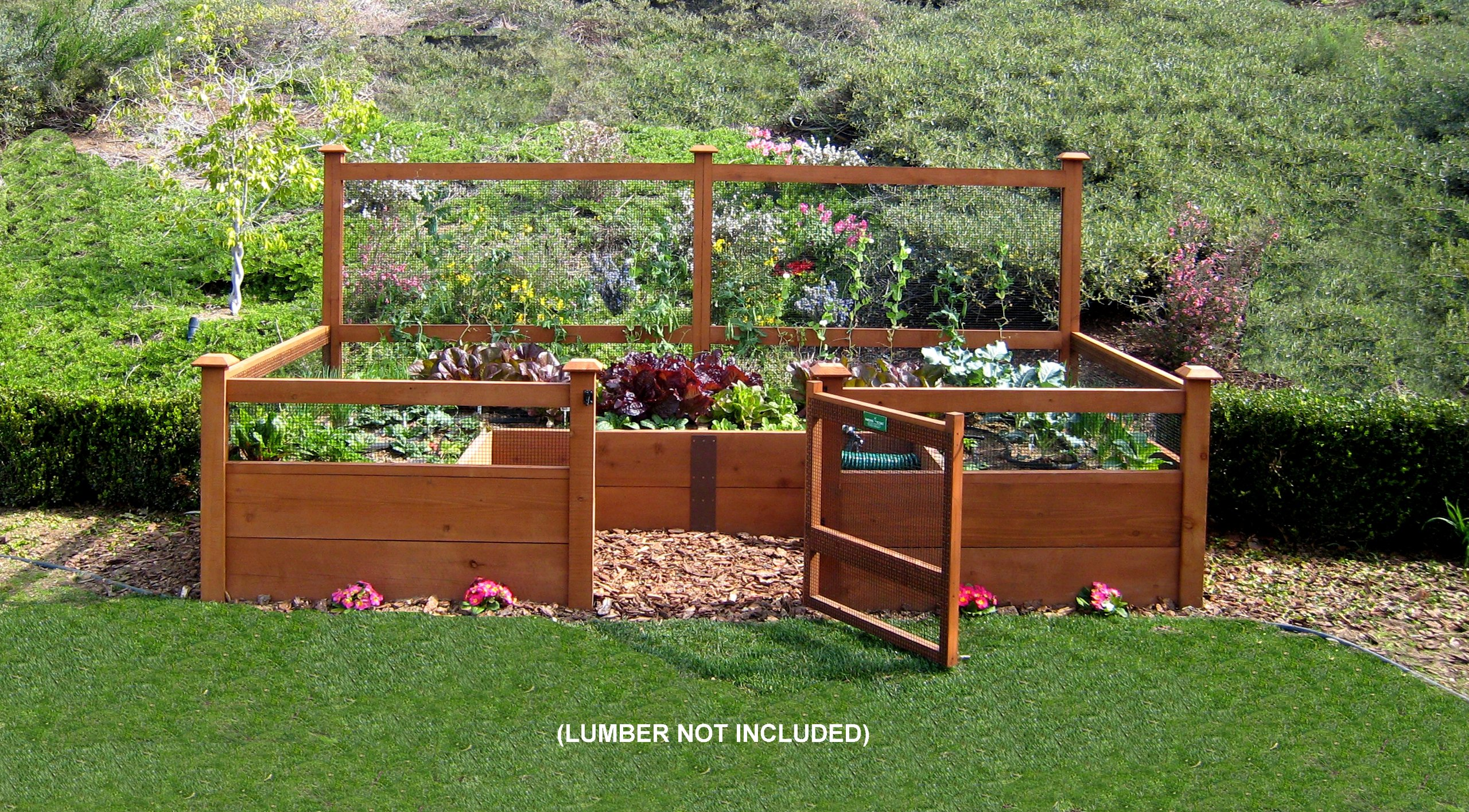 Just Add Lumber Vegetable Garden Kit - 6'x12' Deluxe by Gardens To Gro