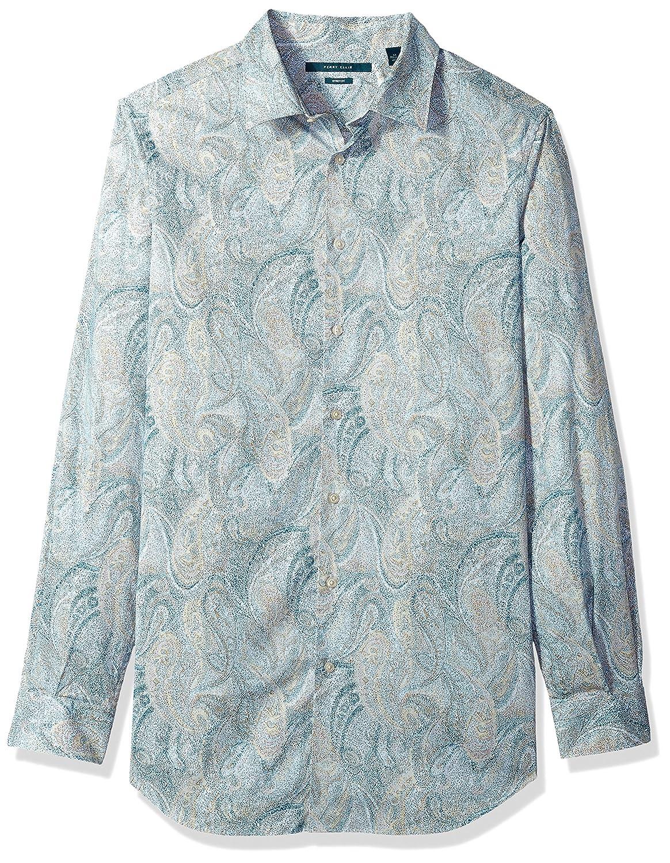 Perry Ellis Mens Long Sleeve Multicolor Paisley/Print Shirt