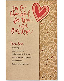 Amazon hallmark everyday love card love note office products american greetings romantic true love thank you card with foil 5824846 m4hsunfo