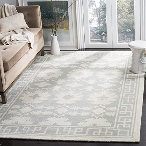 Safavieh Bella Collection BEL132B Handmade Grey and Ivory Premium Wool Area Rug 4 x 6