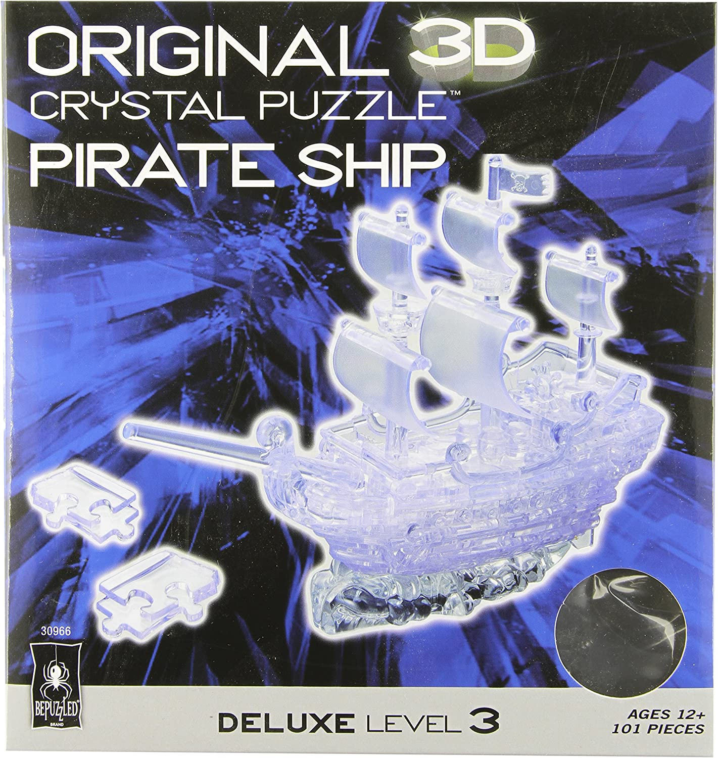 Crystal Puzzle Deluxe Pirate Ship Clear