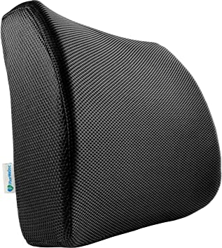 PharMeDoc Memory Foam Lumbar Support for fice Chair Memory Foam Lumbar Pillow for Lower Back