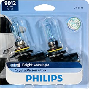 Philips 9012CVB2 CrystalVision Ultra Upgrade Headlight Bulb (9012 HIR2), 2 Pack