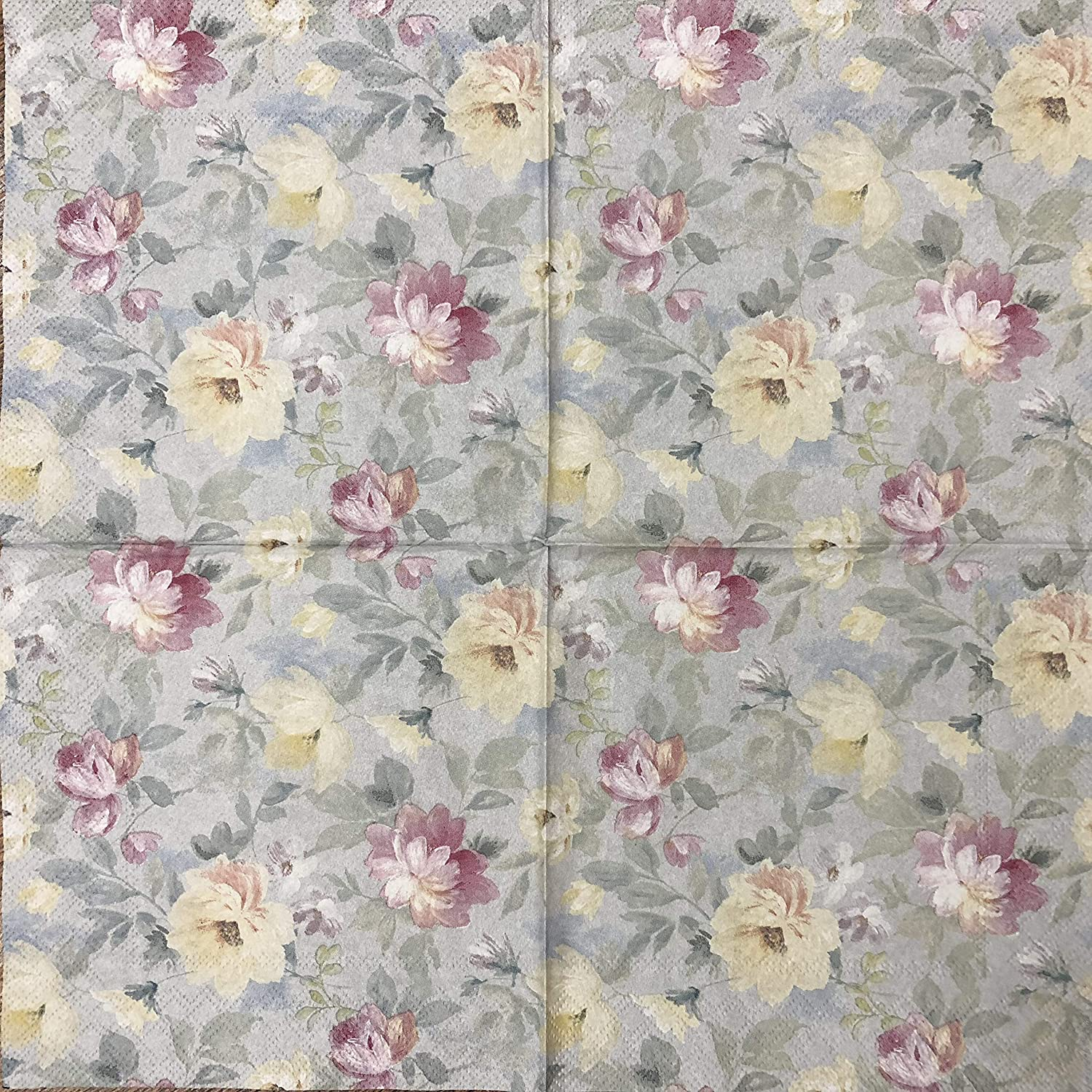 2 single Paper Napkins for DECOUPAGE Crafts Collection Party Roses Flowers Blossom Spring