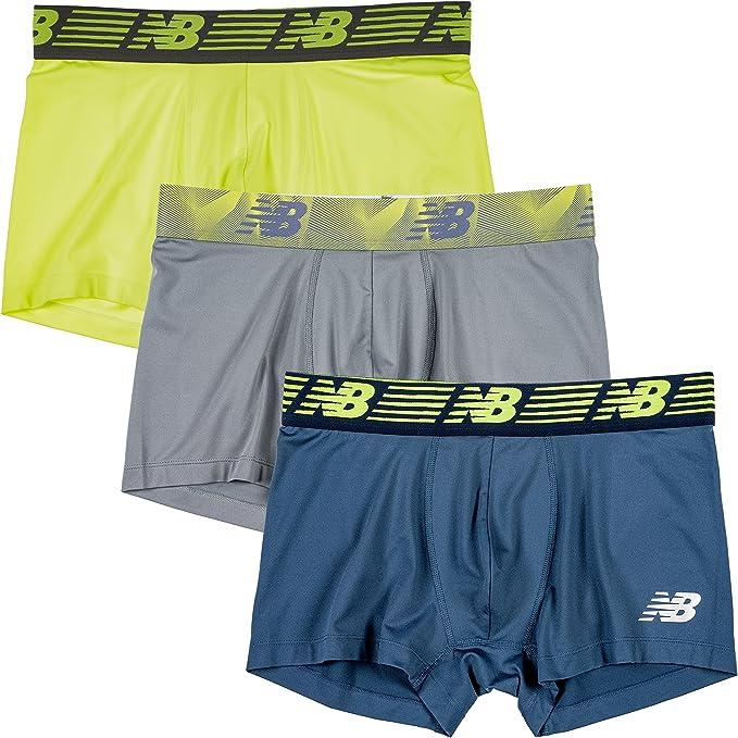 Lot 3-Pack Mens Soft Cotton Boxer Briefs No Ride Up Underwear Shorts Trunks Flex