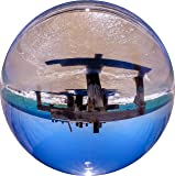 Rollei Lensball (90 mm) - Clear and transparent solid photo glass sphere - Ideal for clear and sharp reflections and especially suitable for taking pictures with DSLR and DSLM cameras - Incl. microfiber cloth and a padded storage bag