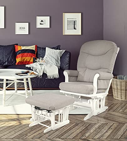 Dutailier Sleigh Glider-Multiposition Recline and Ottoman Combo WHITE FRAME/LIGHT GREY & Amazon.com: Dutailier Sleigh Glider-Multiposition Recline and ... islam-shia.org