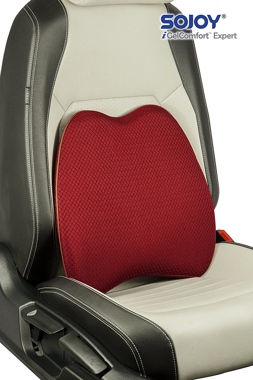 Sojoy Auto USA 17x13x6 Sojoy Patented Universal Ergonomic Streamlining Car Seat//Cushion Lumbar and Neck Support