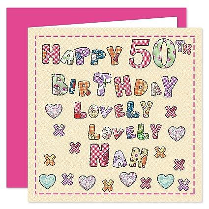 Nan 50th Tarjeta de felicitación de cumpleaños - Lovely ...