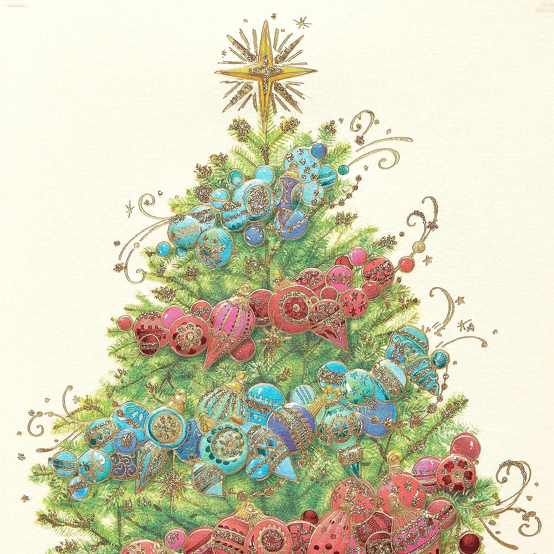 Amazon Papyrus Decorative Christmas Tree Christmas Cards Boxed