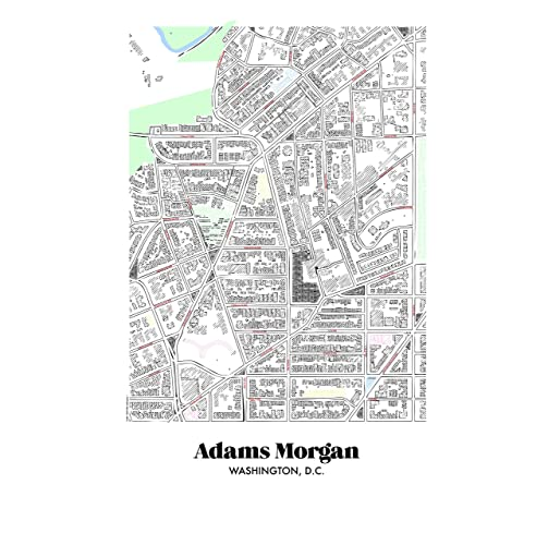 Adams Morgan Dc Map.Amazon Com Map Of Adams Morgan In Washington Dc Handmade