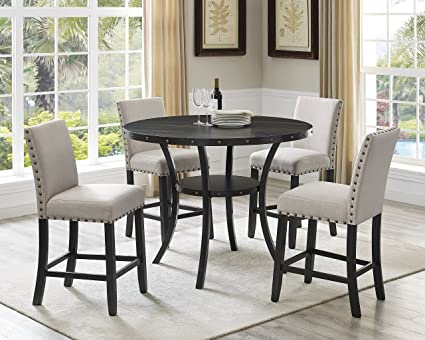 Amazon Com Roundhill Furniture P162ta Collection Biony Espresso