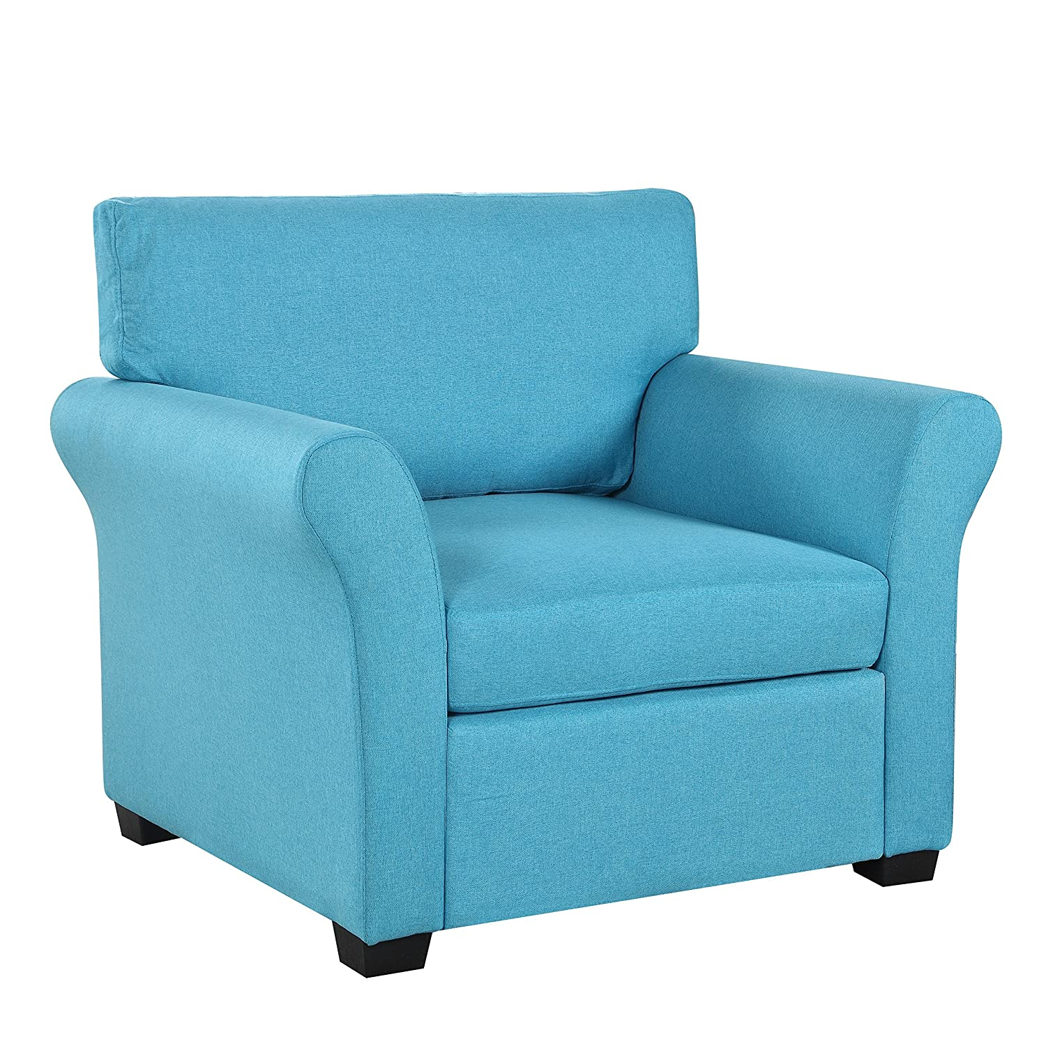 Amazon Classic and Traditional Linen Fabric Accent Chair