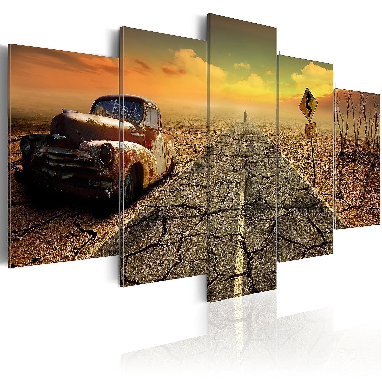 murando - Bilder 100x50 cm - Leinwandbilder - Fertig Aufgespannt - Vlies Leinwand - 5 Teilig - Wandbilder XXL - Kunstdrucke - Wandbild - Auto 020112-22