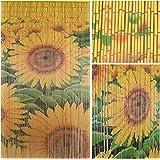 "BeadedString Natural Bamboo Wood Beaded Curtain-90 Starnds-80 High-Boho Door Beads-Bohemian Doorway Curtain-35.5"" Wx80 H-Sunrise"