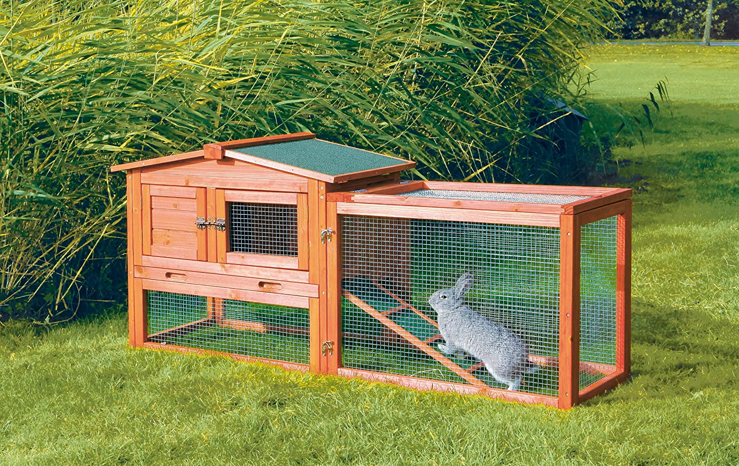 Amazon.com : TRIXIE Pet Products Rabbit Hutch with Outdoor Run, Extra Small  : Pet Habitats : Garden & Outdoor