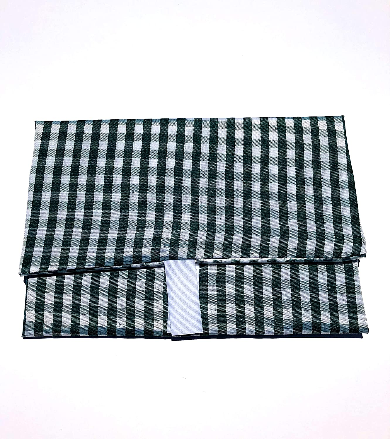 WRAP-N-MAT, Extra Large, Reusable Food Wrap and Placemat (Green Gingham)