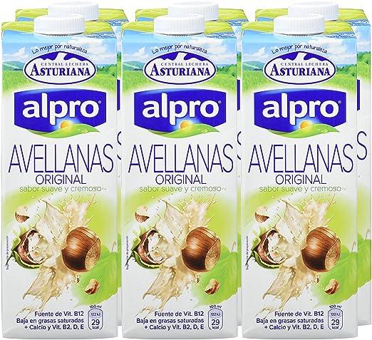Alpro Central Lechera Asturiana Bebida de Avellana - Paquete de 8 x 1000 ml - Total: 8000 ml: Amazon.es: Alimentación y bebidas