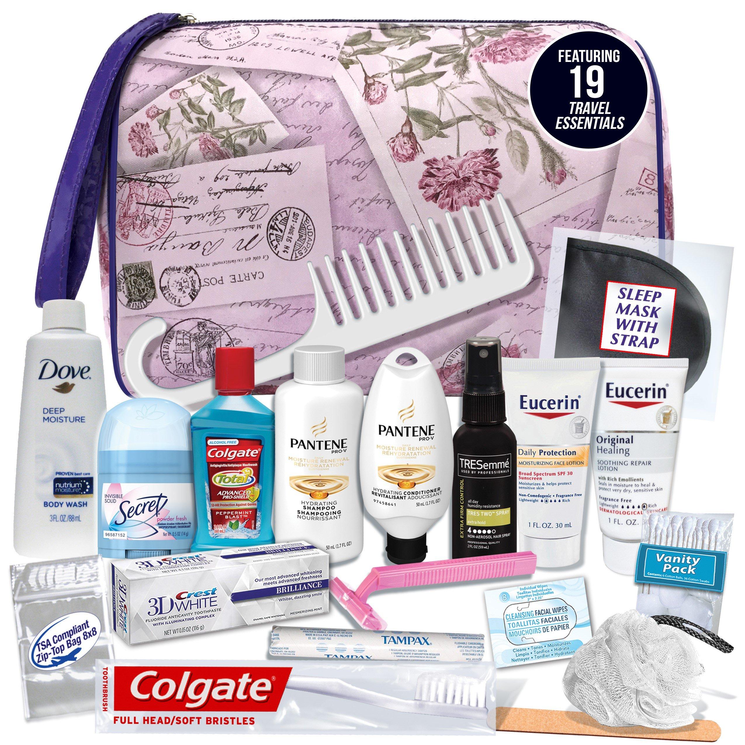 Convenience Kits Women's Premium 19-piece Necessities Travel Kit
