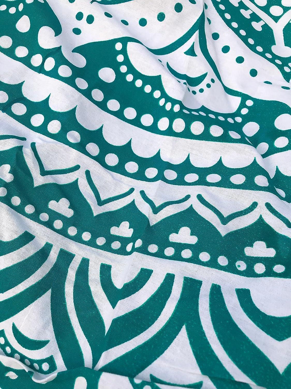 Graue Schwarze Ombre raajsee Indien Strandtuch Rund Mandala Hippie//Gro/ß Indisch Rundes Baumwolle//Boho Runder Yoga Matte Tuch Meditation//Tischdecke Rund Picknick handgefertigt Teppich 70 inch